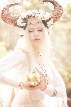 Model \ MUA: Angélica Elfic Outfit: Elfic Wear Photo \ Edition: Eleán'Art #fashion #pagan #elf #elvish #nature #photography #model #dreadlocks #dreads #medieval #Celtic #blondhair #fantasy #costume #larp #armour #armor #sword #epic #tolkien #whitehair #forest #elves #elficwear#angelicaelfic #braid #braids #longhair #hairstyle #female #horns #antlers #headpiece #maleficent #staff #wizard #wand