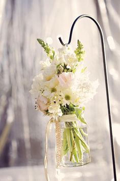 I might be able to do mason jars if there is lace wrapped around the top like this one.