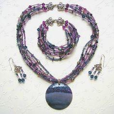 Purple Gypsy Jewelry Set by winding road, via Flickr