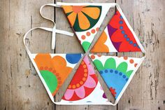 Bold 'Betty' Colorful Floral Bunting / Banner by annasbluebellblue Bunting Banner, Banners, Handmade Accessories, Handmade Jewelry, 2016 Fashion Trends, Girl Nursery, Etsy Handmade, Small Businesses, Photo Props