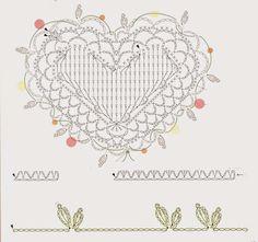 Tina's handicraft : 27 designs patterns for crochet harts Crochet Mandala, Crochet Motif, Crochet Stitches, Crochet Patterns, Crochet Bouquet, Crochet Flowers, Crochet Blocks, Crochet Squares, Crochet Diagram