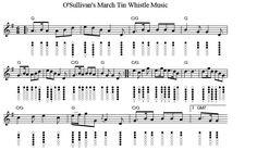 O' Sullivans March Letter Notes Which are the same as the sheet music above. Description from irish-folk-songs.com. I searched for this on bing.com/images