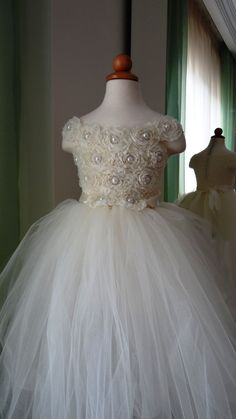 Flower Girl Dress.... Flower Girl Tutu Dress.... Tulle Dress on Etsy, $65.00