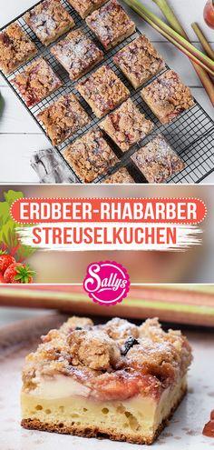 Hallo meine Lieben,  eben kam mein neues Video online 😍 Frischer Streuselkuchen wie vom Bäcker! Wer liebt ihn nicht? Unten befindet sich ein Blitz-Quark-Ölteig, darüber verteilt sich klecksartig eine Quarkfüllung. Darüber kommt eine Frucht Füllung aus süßen, frischen Erdbeeren aus der Saison und säuerlichem Rhabarber 😘 Der perfekte Blechkuchen in der Erdbeersaison!  Viel Spaß beim Nachbacken 😍  #sallyswelt #erdbeer #rhabarber #streuselkuchen #streusel #sallys #erdbeeren #erdbeersaison… Cereal, Breakfast, Food, Quotes, Hipster Stuff, Sheet Cakes, Strawberries, Yummy Cakes, Baking