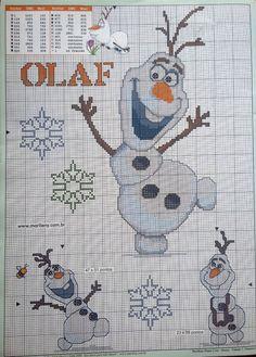 Olaf frozen x-stitch Disney Cross Stitch Patterns, Counted Cross Stitch Patterns, Cross Stitch Charts, Cross Stitch Designs, Cross Stitch Embroidery, Frozen Cross Stitch, Just Cross Stitch, Cross Stitch Pillow, Stitch Book