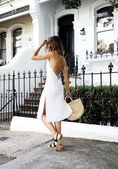Gorgeous White Dress With Open Back