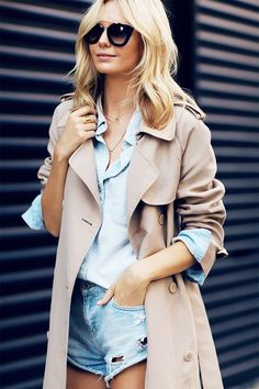 How to Layer Your Chambray Shirt Like a Pro via @WhoWhatWear