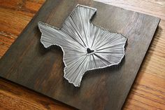 Texas string art.. For my rustic living room.