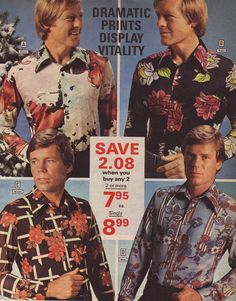1970s Fashion for Men & Boys | 70s Fashion Trends, Photos & Styles - Pinned from Retrowaste - http://www.retrowaste.com/1970s/fashion-in-the-1970s/1970s-fashion-for-men-boys/