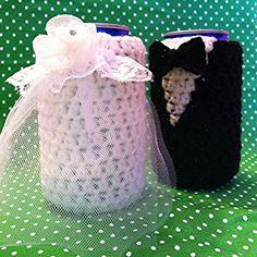 Bride and Groom Beer Sweaters Set Handmade Crochet by YarnSchool