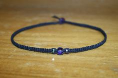 Black Hemp Choker Necklace by MidwestTexanDesigns