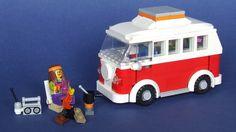 Lego Camper Van!!! Love the hippie dude!