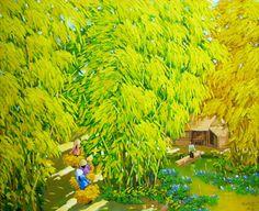 Autumn pond by Vietnamese Artist Duong Ngoc Son