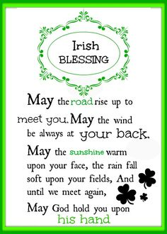 #Irish blessings Free #Printable. Just print and frame.