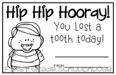 I Lost a Tooth Certificates by First Grade Schoolhouse Classroom Freebies, Kindergarten Classroom, Classroom Themes, 2nd Grade Class, First Grade, Grade 1, Classroom Organisation, Classroom Management, School Days