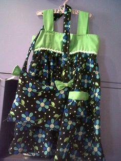 Abi's dress and handbag