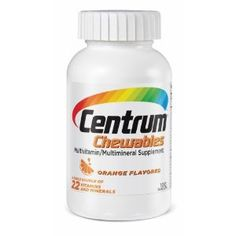 Centrum Centrum Chewable Tablets Orange Flavored - Good multivitamin, with adequate Iron, for pre and post bariatric surgery.