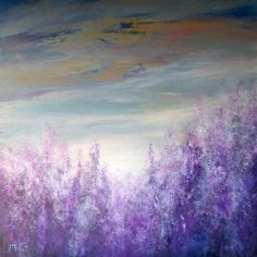 ARTFINDER: Lavender by Kirstin McCoy - This large abstract painting was inspired by lavender fields in the South of France. The colour, the texture, and the scent of lavender encapsulate for many ...