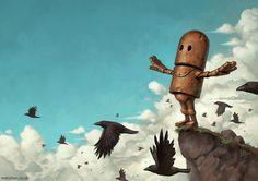 Pinturas-de-robots-solitarios-contemplando-el-mundo (4)