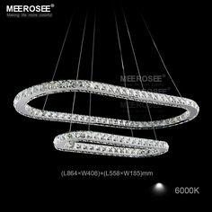 Find More Pendant Lights Information about Hot sale Oval LED Crystal Pendant…