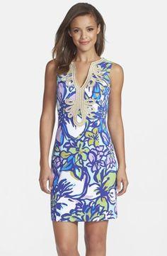 Women's Lilly Pulitzer 'Janice' Soutache Trim Shift Dress,