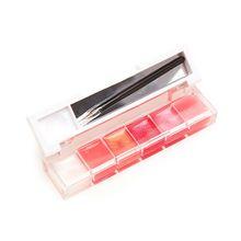 Chegada nova 6 Cores de Maquiagem Lip Gloss Batom Palette Set Creme Paleta de Lábio Para Lábios Batons Cosméticos Paleta #61264 alishoppbrasil