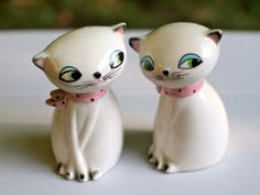 Vintage Kitsch Holt Howard Siamese Cats Salt and by MuDuLondon, £15.00