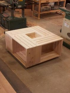 Wood Crate Coffee Table