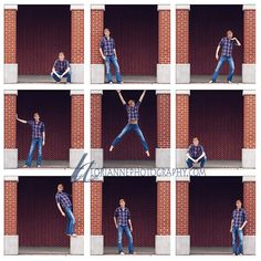 guy senior photography - Love the multi-frame of this; plus he's barefoot.. haha thats fun