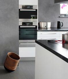 Ein Papierkorb in der Küche den man nicht verstecken muss sondern zeigen möchte.