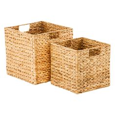 The Container Store Water Hyacinth Storage Cubes With Handles - My site Toy Storage Cubes, Cube Storage Baskets, Storage Bins, The Home Edit, Water Hyacinth, Fabric Storage, Wicker Baskets, Decoration, The Container Store