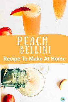 Alcoholic Drinks At Home, Cocktails To Make At Home, Fun Drinks Alcohol, Bellini Cocktail, Prosecco Cocktails, Fun Cocktails, Vodka Sangria, Party Drinks, Refreshing Summer Cocktails