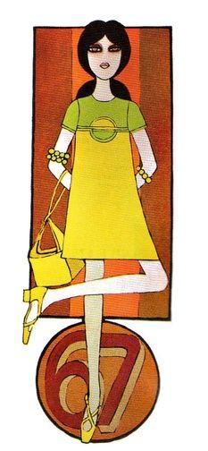 Illustration by Caroline Smith, 1967, Petticoat magazine.