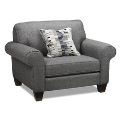 Living Room Furniture - Drake Chair - Grey