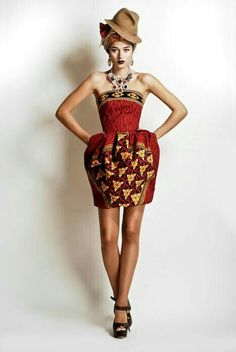 """fumblingtowardshappiness: """" thisisnotafrica: """" cutfromadiffcloth: """" Stella Jean S/S 2012 African Inspired Collection Part 3 """" but like why couldn't Stella have picked a particular culture in a. Stella Jean, Daily Fashion, Fashion News, Fashion Outfits, African Attire, African Dress, African Style, African Outfits, African Clothes"""