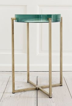 McCollin Bryan, United Kingdom Tinted lens table with acrylic top and brass base. Table Furniture, Furniture Design, Decoration Design, Furniture Inspiration, Interiores Design, Contemporary Furniture, Home Accessories, Home Decor, Side Tables