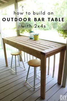 How to build an outdoor bar table with This DIY outdoor table can also be used as an outdoor work table. DIY project using only How to build an outdoor bar table with This DIY outdoor table can also be used as an outdoor work table. DIY project using only Outdoor Bar, Diy Outdoor, Diy Bar, Diy Table, Diy Outdoor Bar, Diy Garden Furniture, 2x4 Wood Projects, Outdoor Bar Table, Diy Outdoor Furniture