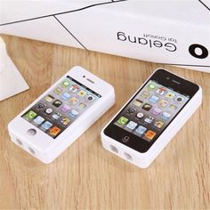 Creativo lindo kawaii iphone novedad útiles escolares sacapuntas de plástico para regalo de los cabritos envío libre 499