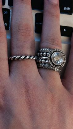 Pandora Beads, Pandora Bracelets, Pandora Jewelry, Charm Jewelry, Pandora Charms, Pandora Rings Stacked, Silver Stacking Rings, Silver Rings, Stackable Rings