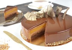 Vegan Desserts, Just Desserts, Delicious Desserts, Yummy Food, Chocolate Caramels, Chocolate Cake, Cremeux Caramel, Cake Recipes, Dessert Recipes