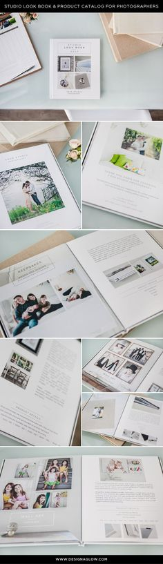 Since we know you have to show it if you want to sell it, Design Aglow offers our very own ready to use Studio Look Book. Professionally written and graphically designed, our fully customizable template is divided into categories to help sell all your fabulous studio offerings, from everything from albums to wall galleries, specialty items, high resolution negatives and more.http://www.designaglow.com/products/modern-minimalist-studio-look-book-product-catalog
