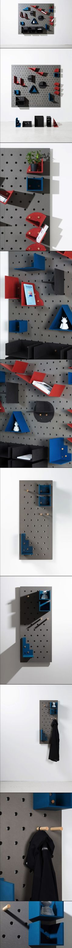 Plakativ: A Wall-Mounted Modular Shelving System