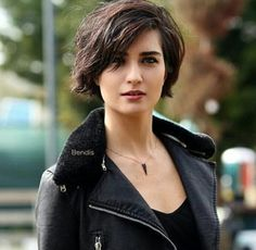 Inspiration for Shannyn Hawke in Just One Fake Date, book one of the #FlatironFiveFitness series of #contemporaryromances by #DeborahCooke (Shannyn's hair is shorter, but I like the styling with the leather jacket.)