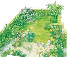 Zeichnung Duftgarten