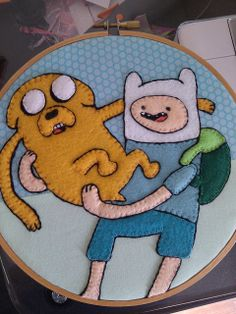 Jake the Dog and Finn the Human #2 by Existitchialism, via Flickr Craftster.org