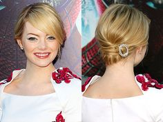Wedding Updos - Bitsy Bride (shared via SlingPic) love slanted bangs