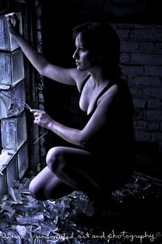 """""""Concrete and Glass, Part Two"""" ☆ Model: Marie-Chantale ☆ Howard Smith Abandoned Paper Mill ☆ Photography: AliciaTransmuted Art and Photography"""