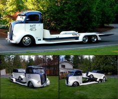I need to build a Car Hauler like this COE... using a caddy eldorado as the donner of the tranny and front drive train in order for me to obtain an insanely low deck...