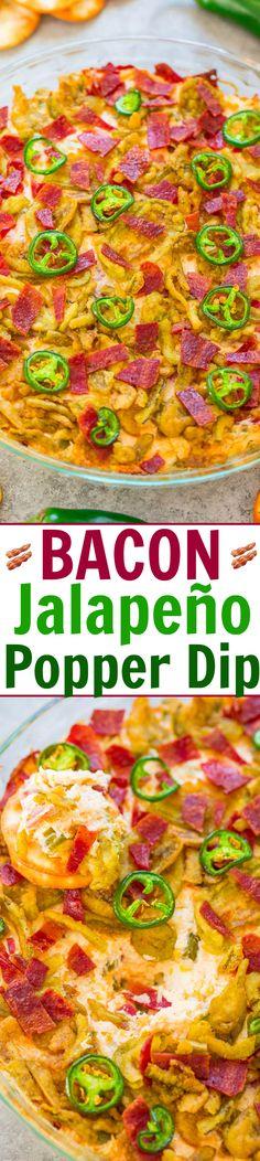 Bacon Jalapeño Popper Dip - Averie Cooks