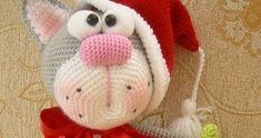 Katze, Weihnachten , Häkeln, Kostenlos,